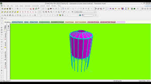 design of elevated circular water tank in staad pro v8i youtube