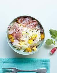 cuisiner le fenouil cru salade fenouil pêche jambon cru pour 4 personnes recettes