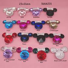 hair bow center aliexpress buy 23x31mm 16colors minnie mouse with bow bling