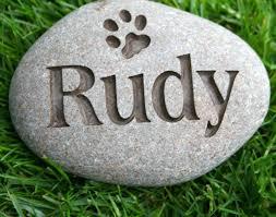 pet memorial stones personalized pet memorial on river rock