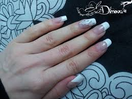 french manicure with gem nail art gallery