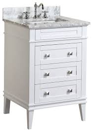 Bathroom Vanities With Top by Eleanor Bathroom Vanity With Carrara Top Traditional Bathroom