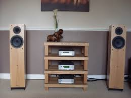 Audio Video Rack Systems Cyrus Audio Hi Fi On A Podium Rack With Spendor A6 Speakers