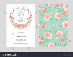 Templates Of Invitation Cards Template Wedding Invitation Card Doves Blooming Stock Vector