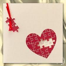 faire part mariage puzzle faire part de mariage coeur en puzzle ma13 077 mariage