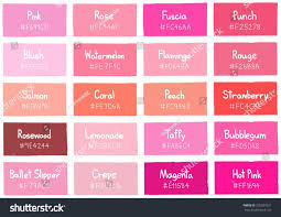 pink tone color shade background code stock vector 350037821