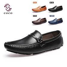Soft And Comfortable Shoes Wholesale Plus Size 47 Genuine Leather Shoes Men Flats Shoes Men