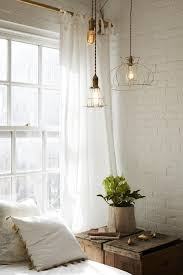 create a chic statement with a white brick wall