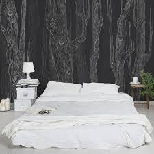 wandgestaltung fototapete die besten 25 wald tapete ideen auf wald schlafzimmer
