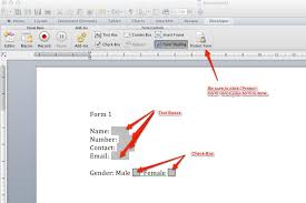 design form in word macos how to create forms in word 2011 for mac super user