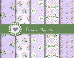 Shabby Chic Purple by Roses Digital Papers Shabby Chic Papers Pastel Pink Papers
