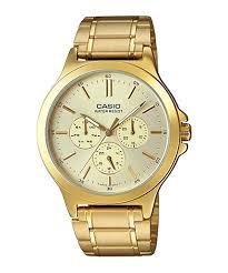Jam Tangan Casio Gold jual jam tangan pria stainless gold latar kuning casio standard