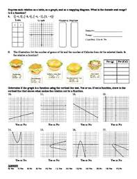 holt algebra 4 2 relations and functions worksheet doc u0026 pdf tpt