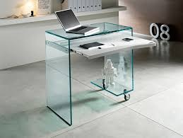 Glass Computer Desk Fabulous Computer Desk For Laptop With Furniture Black Glass With