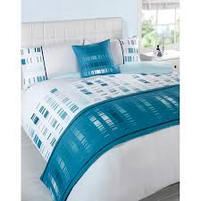 Teal Duvet Cover 5pc Super King Duvet Cover Set Cushion Bed Runner Ebay