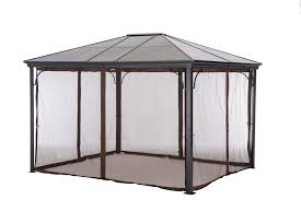 Mosquito Curtains Coupon Code by Grand Resort 10 U0027 X 12 U0027 Hardtop Gazebo With Netting Sears