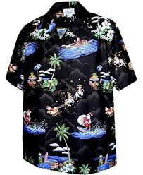 santa claus hawaiian shirt at s clothing