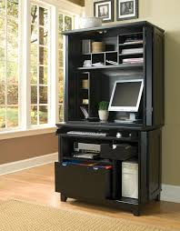 home styles arts and crafts ebony compact computer cabinet w hutch