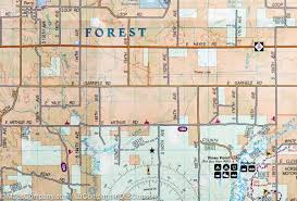 Yale Map Trails Map Of South Manistee National Forest Michigan 759