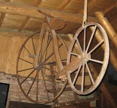 file wooden bicycle in lithuania jpg wikimedia commons