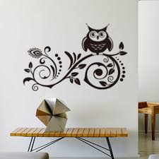 aliexpress com buy hot diy wall art decal decoration fashion new design owl creative wall stickers removable waterproofing home wall decal background vinyl wall stickers zy8239