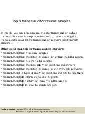 Auditor Resume Sample by Top 8 Sales Cashier Resume Samples