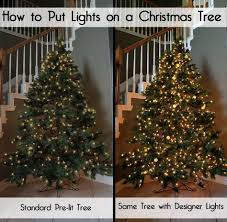 how to put christmas lights on a christmas tree correctly designer secrets for how to put lights on a christmas tree