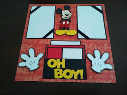 mickey mouse photo album 38 best mickey mouse scrapbook page ideas images on