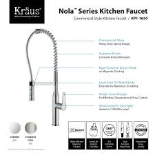 kitchen faucet commercial faucet com kpf 1650ss in stainless steel by kraus
