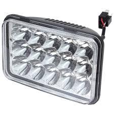 kenwood t800 rectangular 4x6 inch led headlight bulb sealed beam replace hid