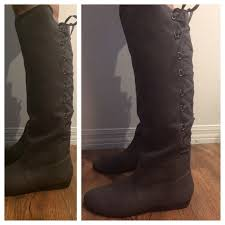 justfab s boots 38 boots just fab lace up boots donated from s
