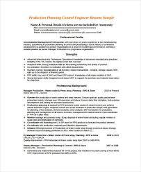 production planner resume production planner resume samples
