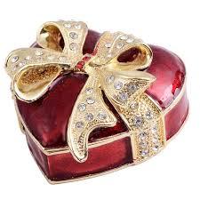 shape box jewelry trinket box bejeweled jewelry