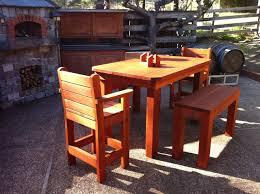 Redwood Patio Table Bistro Bolder 5 Piece Set The Redwood Patio