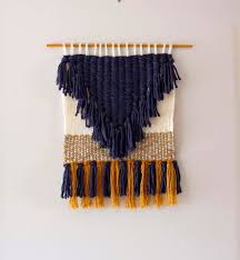 modern woven wall hanging weaving woven wall art yarn hemp