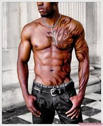 ink tribal on chest and left sleeve viewer com
