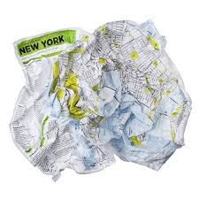 Up Map Crumpled Maps How Come No One Has Come Up With Them Before Big