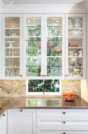 Show Cabinets Kitchen Design Glass Cabinets In Front Of Windows