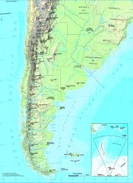 physical map of argentina argentina physical map world atlas size 1872x2559