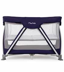 nuna sena travel crib navy