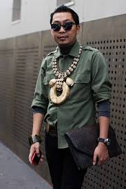 men necklace style images On the street men 39 s accessories milan the sartorialist jpg