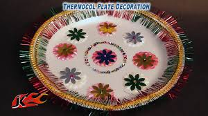 Diwali Decoration Ideas For Home Diy Thermacole Plate Decoration How To Make Jk Easy Craft For