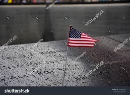 American Flag On Ground Memorial Ground Zero Manhattan September 11 Stock Foto 574569265