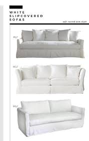 Curved White Sofa by How We Choose White Slipcovered Sofas Room For Tuesday Blog