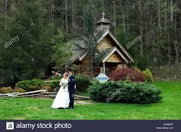 wedding chapels in pigeon forge tn the log wedding chapel in gatlinburg tennessee usa stock
