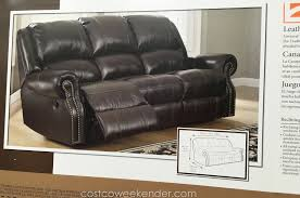 Reclining Leather Chair Furniture Costco Leather Furniture For Creating The Perfect