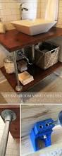 The Budget Decorator by Diy Open Bathroom Vanity Shelves Diy Bathroom Vanity Open Bottom