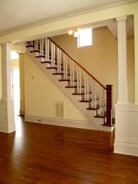 Recessed Handrail Box Newel Post 5 5 Recessed Panel White Oak Splash Carpentry