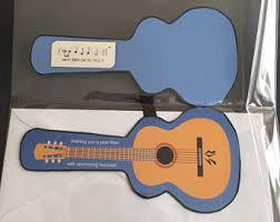 guitar cards etsy