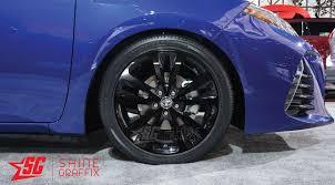 toyota corolla wheel 2017 toyota corolla se xse 17 wheel decals shine graffix com